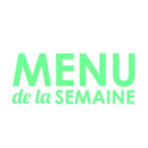 Menu de la semaine Agence de communication digitale so conseils en Lozère