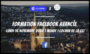 Formation Facebook Avancée SO Conseils agence de communication web CCI Lozère Mende