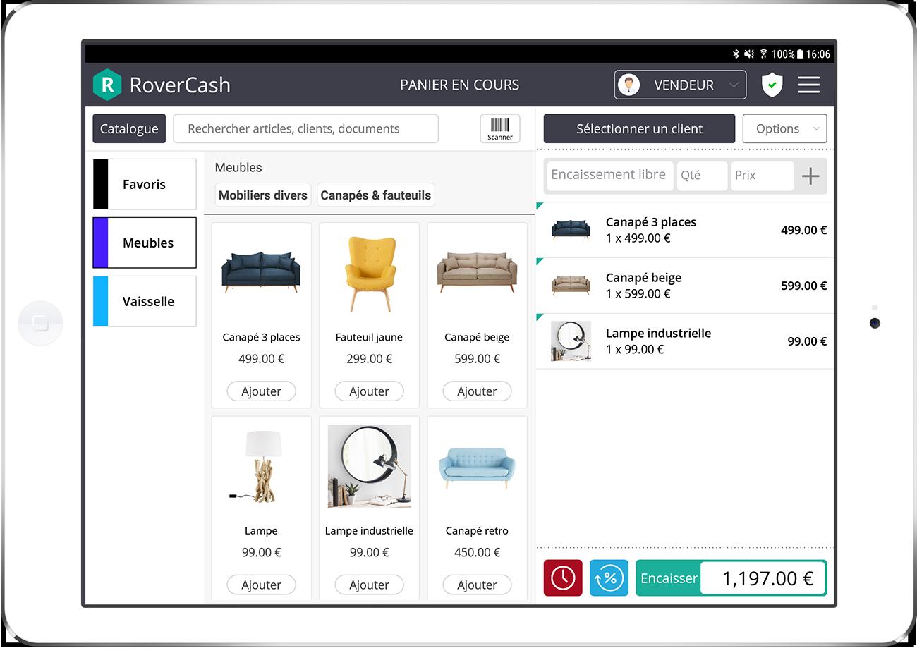 Logiciel de caisse RoverCash, partenaire agence de communication web marketing SO Conseils