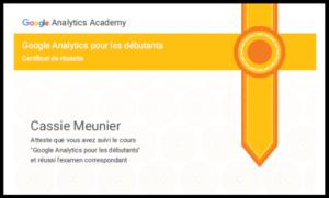 Google Analytics certification So Conseils